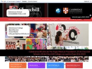 Captura de pantalla para churchill.edu.mx