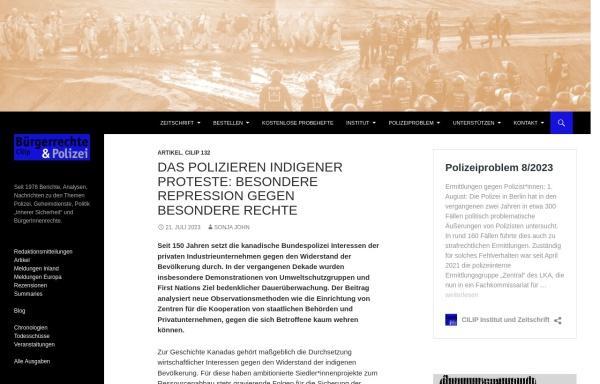Vorschau von www.cilip.de, Cilip, Bürgerrechte & Polizei