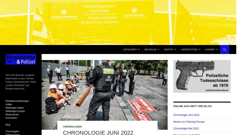 www.cilip.de Vorschau, Cilip, Bürgerrechte & Polizei