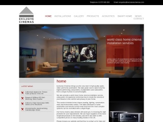 Screenshot for cinemaexperience.co.uk