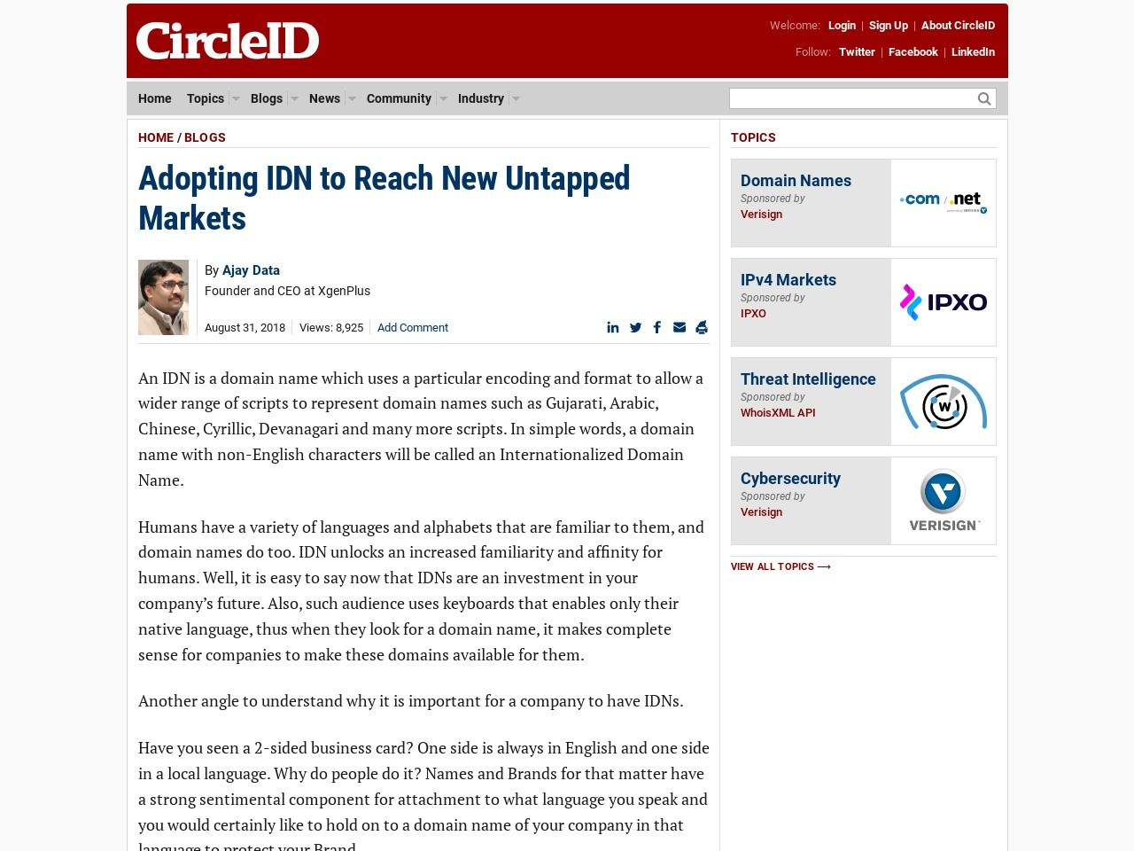Adopting IDN to Reach New Untapped Markets