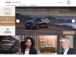Screenshot for citroen.com