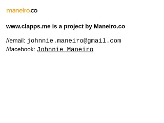 Screenshot for clapps.me