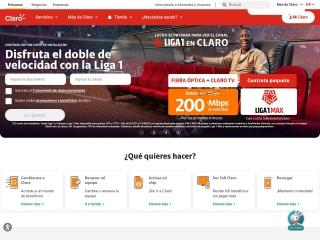 Captura de pantalla para claro.com.pe