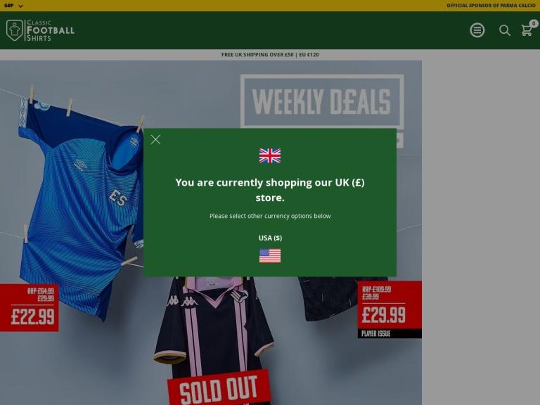 Classic Football Shirts screenshot