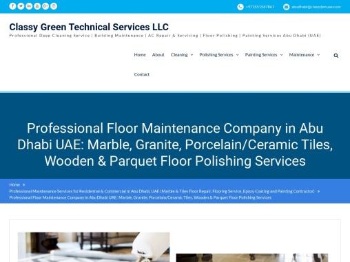 Floor Maintenance Company Abu Dhabi