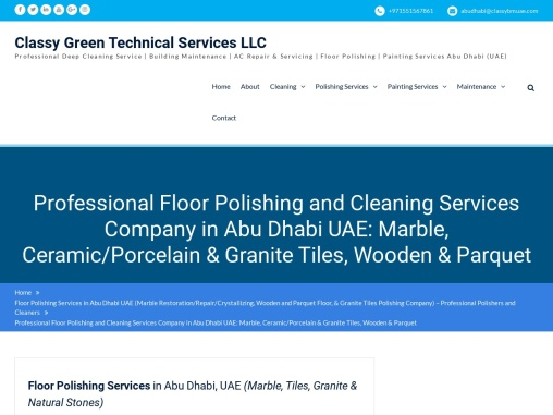 Floor Polishing Company Abu Dhabi