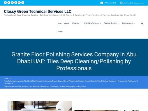 Granite Polishing Abu Dhabi
