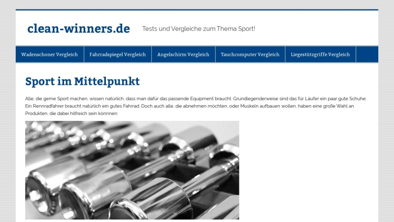 www.clean-winners.de Vorschau, Clean Winners e.V.