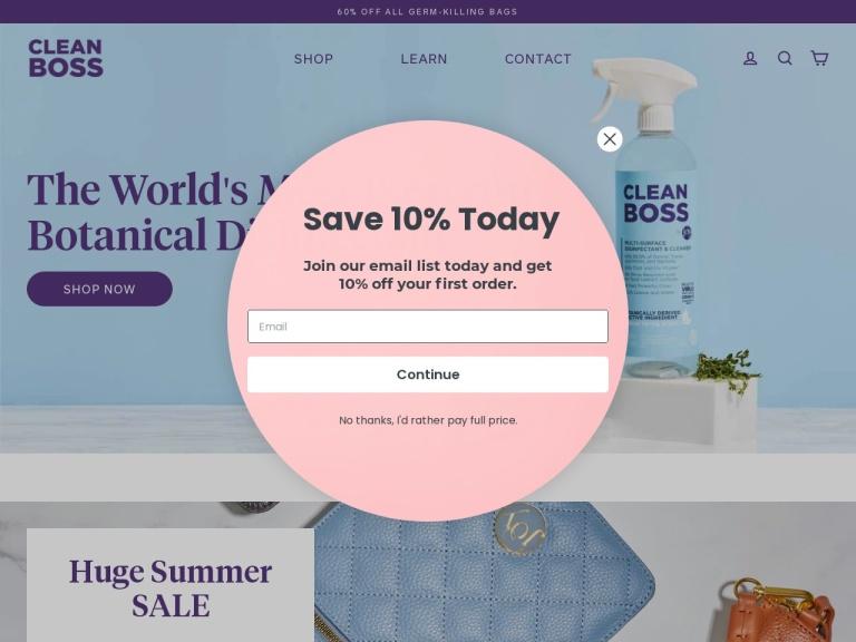 CleanBoss Inc screenshot