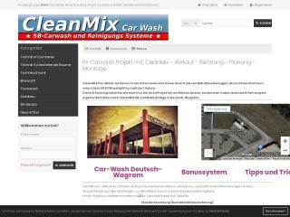 Screenshot der Website cleanmix.at