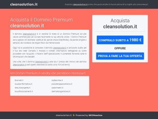 screenshot cleansolution.it