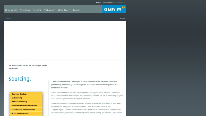 www.clearview.de Vorschau, Clearview Consulting GmbH