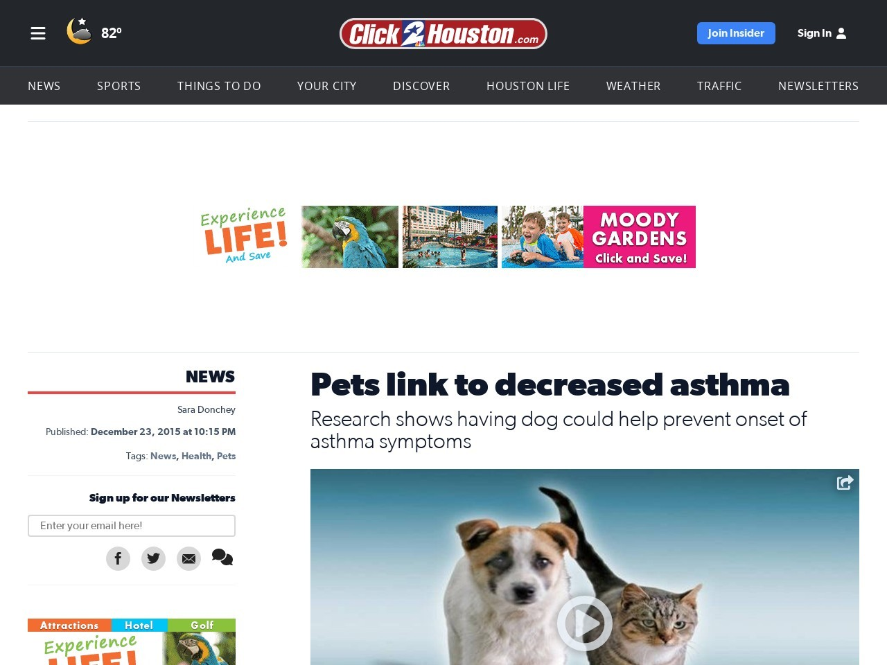 Pets link to decreased asthma