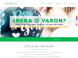 Captura de pantalla para clinicasanfernando.com.uy
