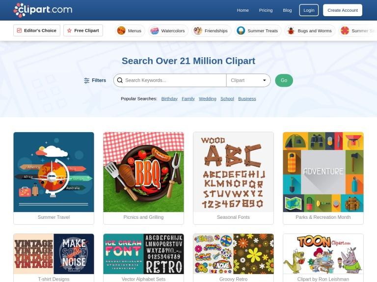 Clipart.com screenshot