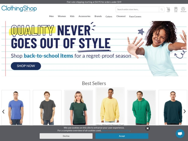 Clothing Shop Online screenshot