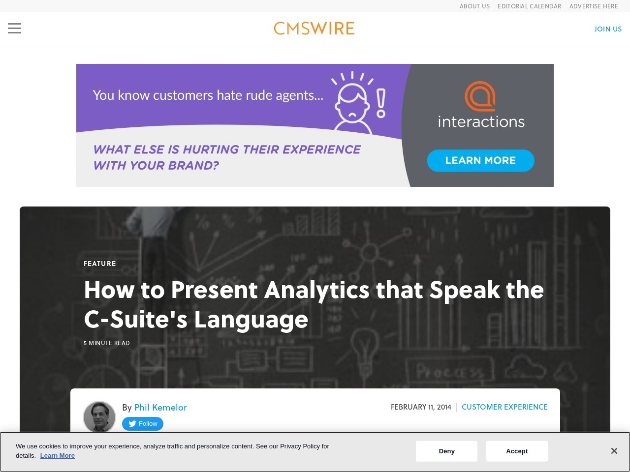 How to Present Analytics that Speak the C-Suite's Language