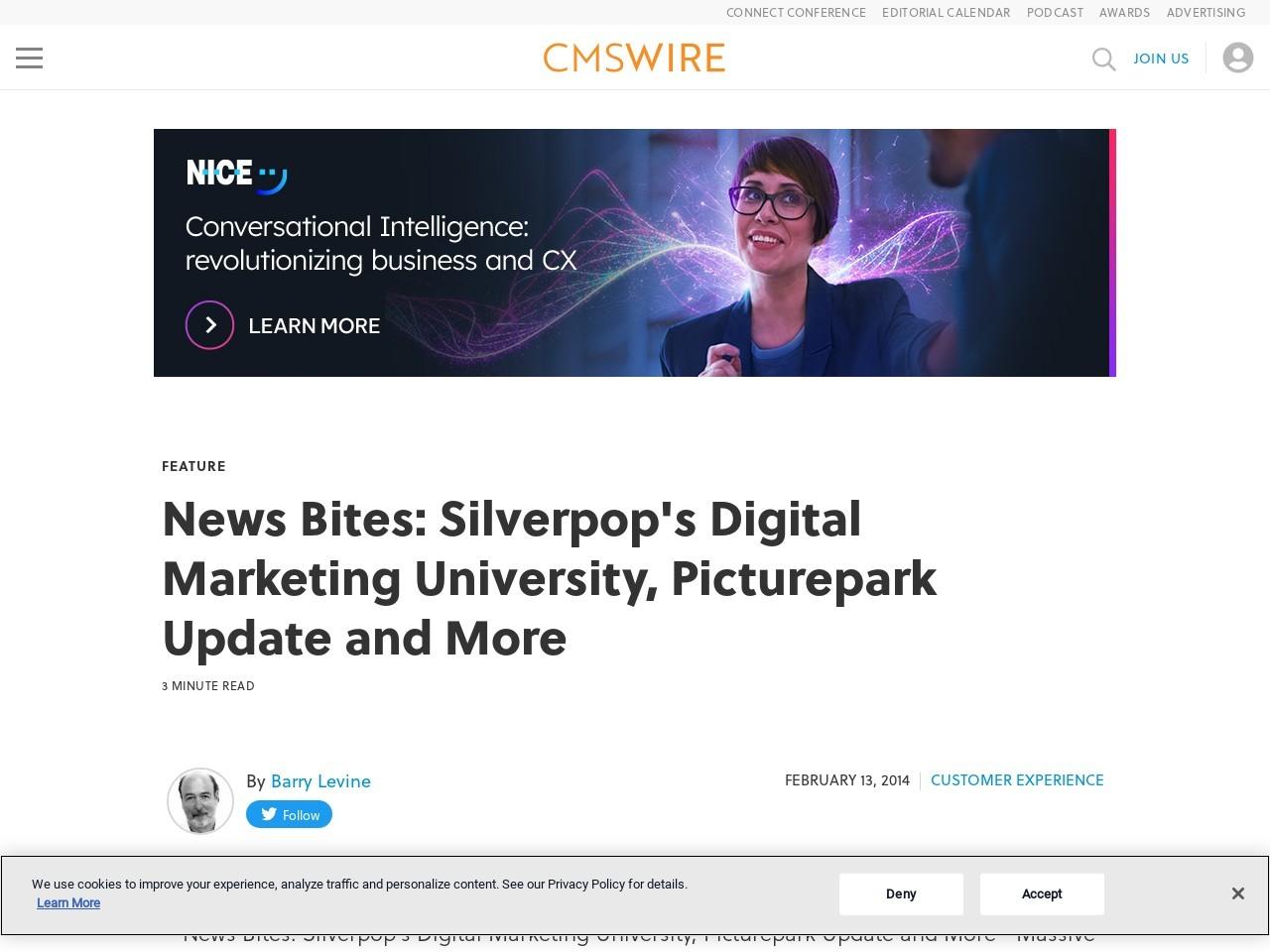 News Bites: Silverpop's Digital Marketing University, Picturepark Update and More