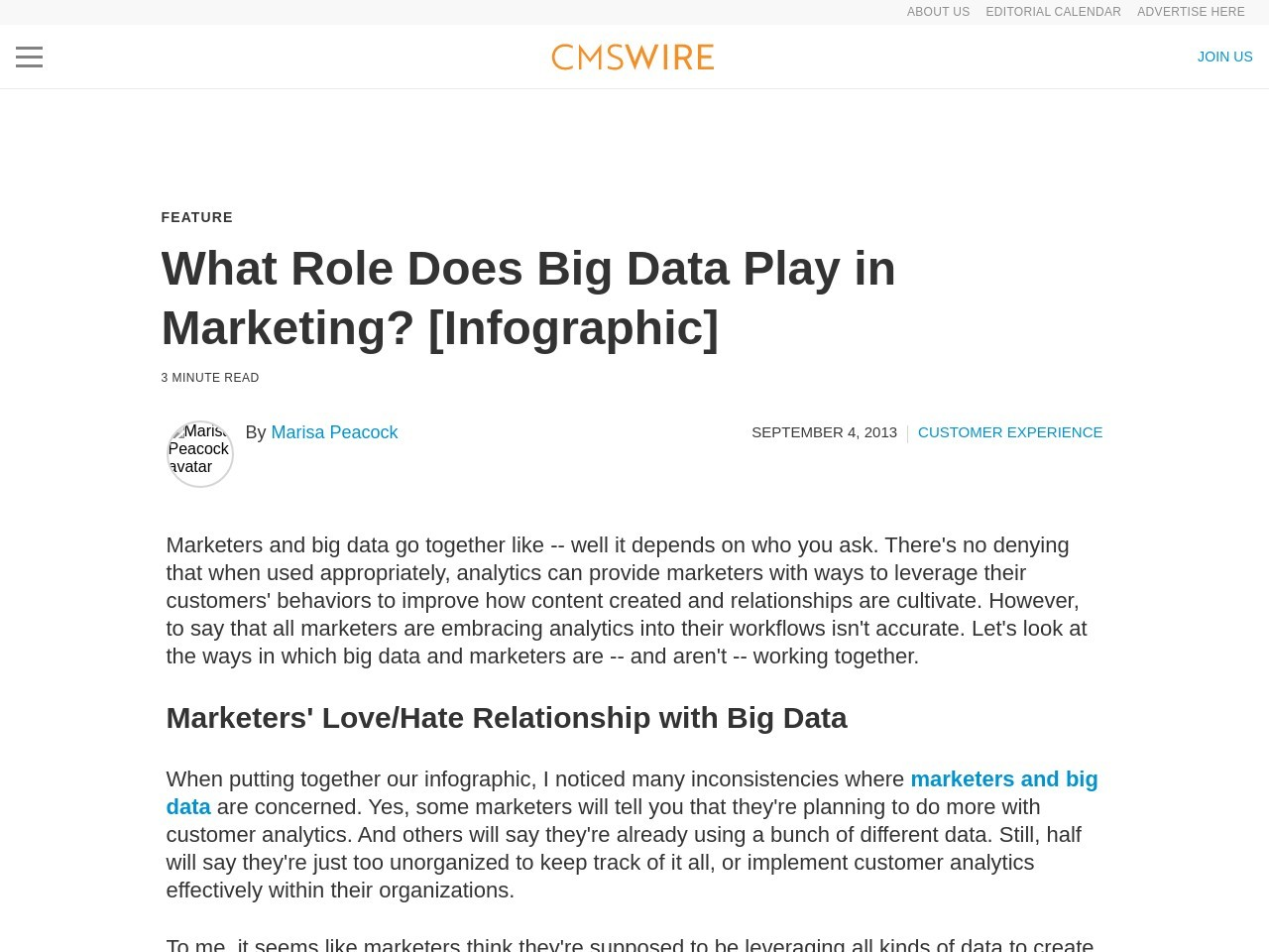 What Role Does Big Data Play in Marketing? [Infographic]