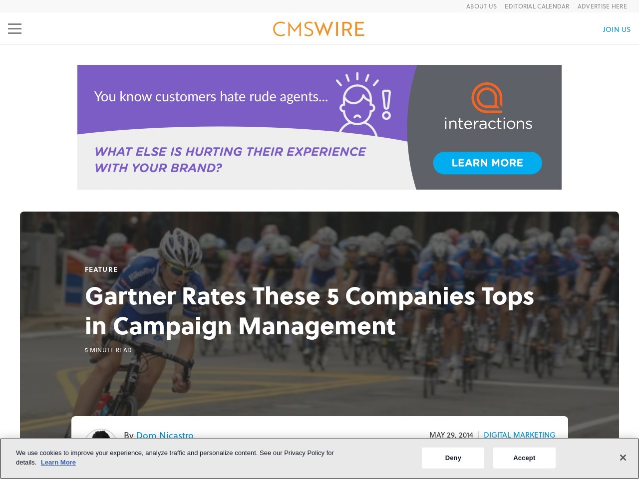 Gartner Rates These 5 Companies Tops in Campaign Management