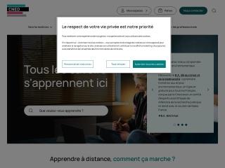 Capture d'écran pour cned.fr