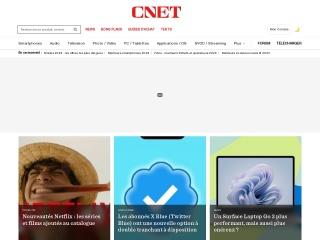 Capture d'écran pour cnet.fr
