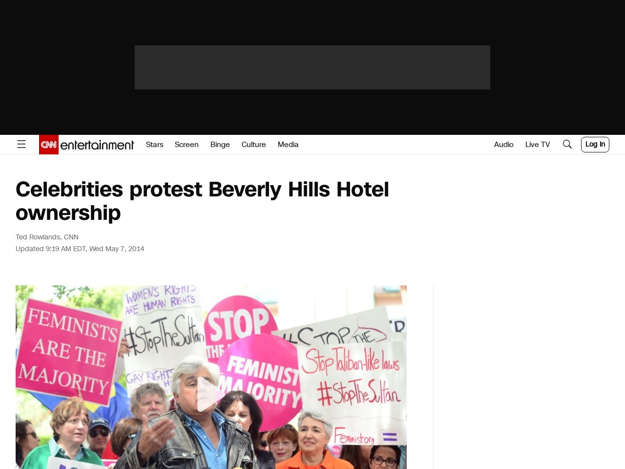Celebrities protest Beverly Hills Hotel ownership