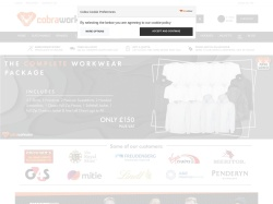 Cobra-workwear.co.uk coupon codes December 2017