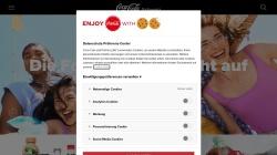 www.coca-cola.ch Vorschau, Coca Cola Schweiz