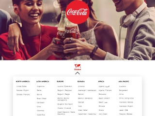 Screenshot for coca-cola.com