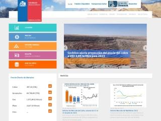 Captura de pantalla para cochilco.cl