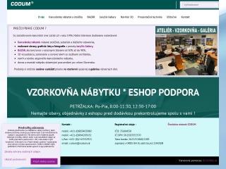 Screenshot stránky codum.sk