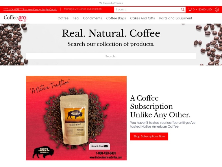 Coffee.org-coffee, Coffee Beans And More screenshot