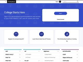 Screenshot for collegeboard.org