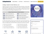 College Student Email Address List   Database of College Students