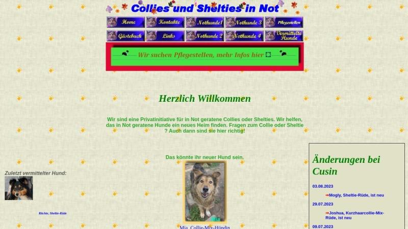 www.collies-und-shelties-in-not.de Vorschau, Collies und Shelties in Not
