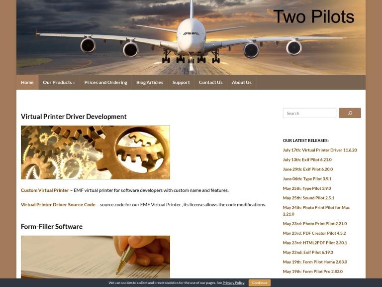 DVA Pilota DOO screenshot