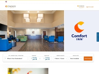 Screenshot for comfortinn.com