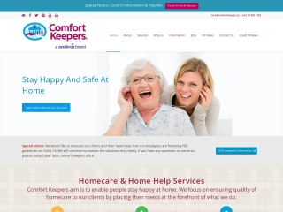 Screenshot for comfortkeepers.ie