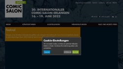 www.comic-salon.de Vorschau, Internationale Kunstmesse Ausstellung Thema Comic