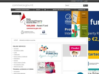 Screenshot for commerce.gov.mt
