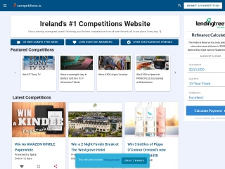 Screenshot for competitions.ie