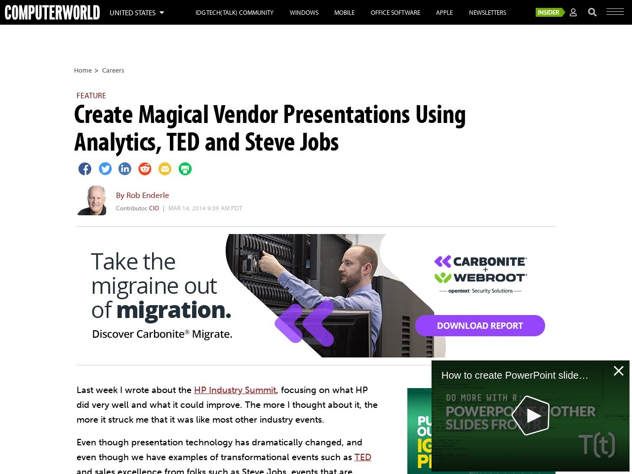 Create Magical Vendor Presentations Using Analytics, TED and Steve Jobs