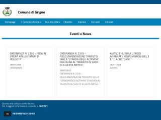 screenshot comunegrigno.it