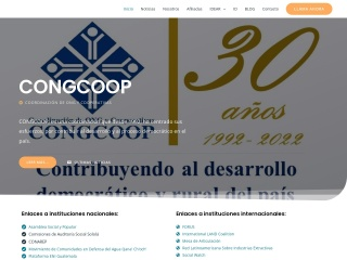 Captura de pantalla para congcoop.org.gt