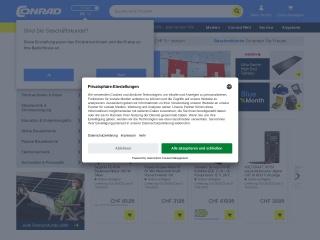 Screenshot der Website conrad.ch
