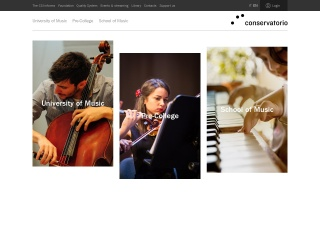 Screenshot der Website conservatorio.ch