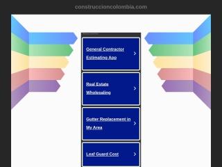 Captura de pantalla para construccioncolombia.com