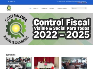 Captura de pantalla para contraloriadedosquebradas.gov.co